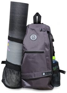 yoga mat and backpack