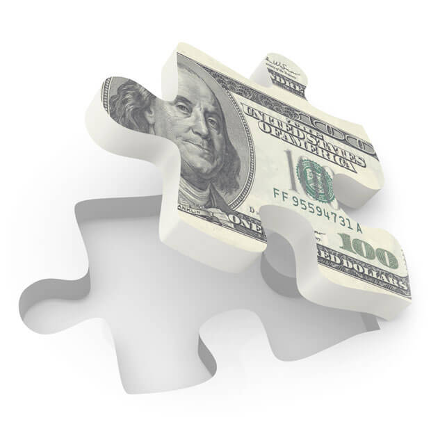 Money Puzzle Piece