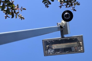 Exterior Commercial Lighting with Sensors