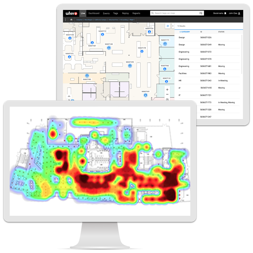 Thermal heat mapping